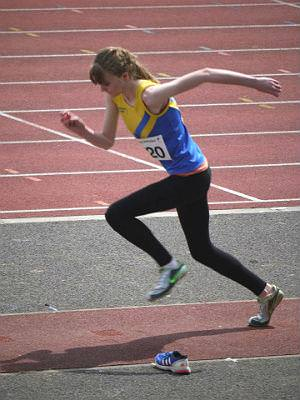 Abi's going upwards with the Pembrokeshire Harriers!